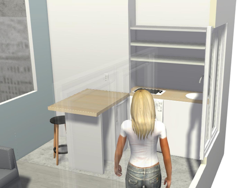 rénovation de la cuisine 3D