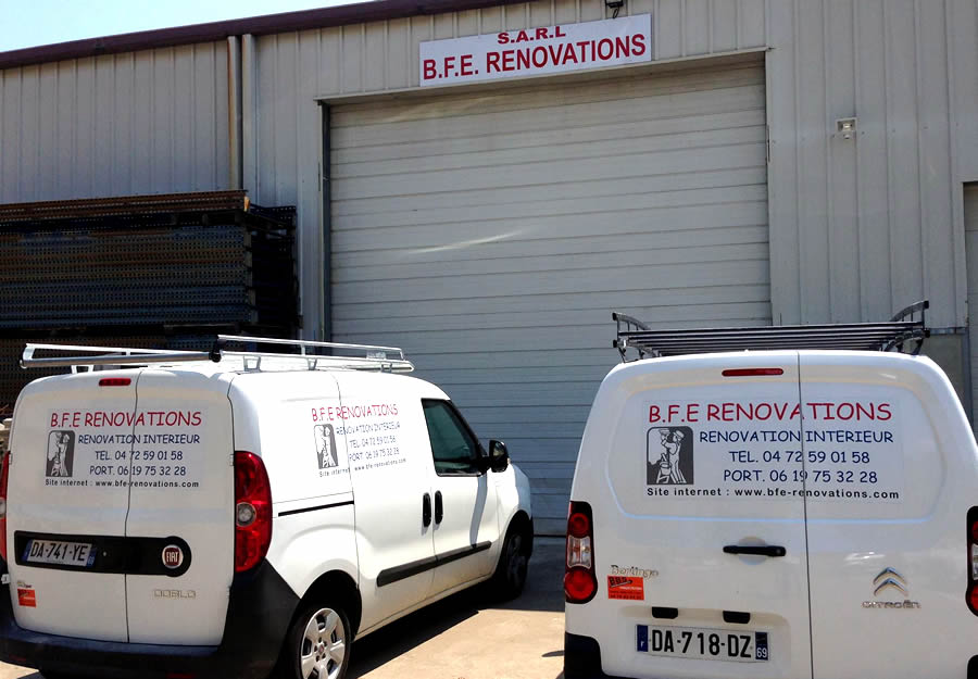 Camionnettes de BFE Renovations